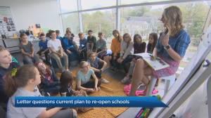 Open letter questioning UCP's plan to reopen Alberta schools