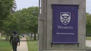 Western University students stage walkout in protest of sexual assault reports (02:33)