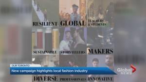 Toronto's fashion industry advisory panel launches #SupportTorontoFashion (02:25)
