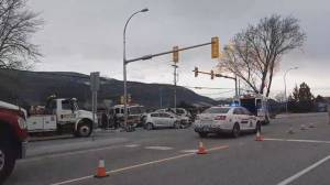 Car accident along Channel Parkway in Penticton (00:48)