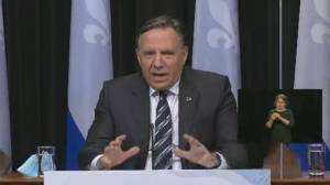 Legault announces extension of COVID-19 emergency measures in 3 Quebec regions (01:01)