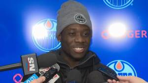 Alphonso Davies talks about his history with hockey