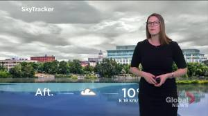 Seasonal temperatures and showers to start the week in southern Ontario (01:42)