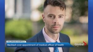 Backlash over appointment of interim Haldimand-Norfolk medical officer (02:52)