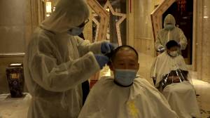 Coronavirus outbreak: Medical staff in Wuhan shave heads to reduce risk of contagion