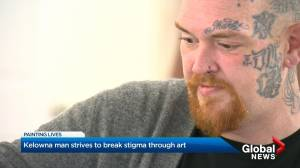 Kelowna man strives to break stigma through art