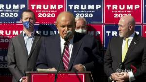 U.S. election: Trump's lawyer Giuliani alleges voter fraud in number of states (01:57)