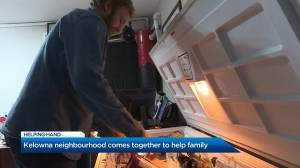 Kelowna neighbourhood comes together to help family over holidays (01:26)