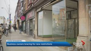 Coronavirus: Toronto retail businesses bracing for expected lockdown restrictions (01:54)