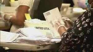 U.S. mail-in ballot results will come in after election night (02:17)