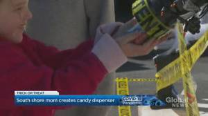 South Shore mom's contact-free Halloween candy dispenser designed for safe trick or treating