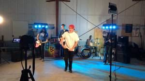 On-set with Kingston rockers 8-Bit Heroes' latest video