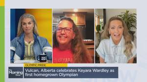 Vulcan, Alberta's first homegrown Olympian Keyara Wardley (02:24)