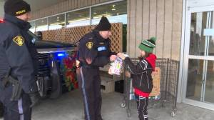 Lennox & Addington County OPP held their first Cram the Cruiser event, food for a local charity