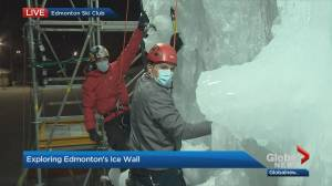 Edmonton has new ice wall in river valley (04:59)