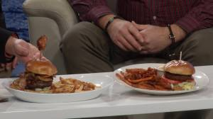 The Tir Nan Og's Gary Cork showcases two burger menu items