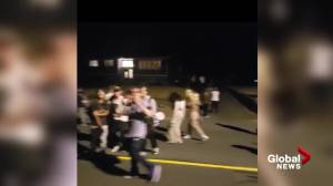 Large group of youths gathers in Saanich B.C. on Friday night