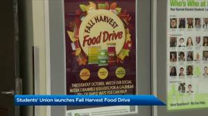 University of Calgary's Students' Union launches fall harvest food drive (01:46)
