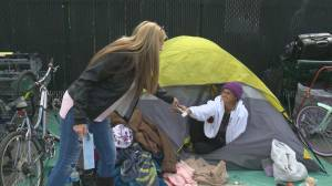 Homeless advocates descend on Kelowna to demand improved living conditions for tent city residents