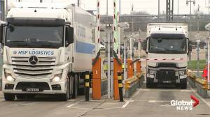 Brexit: UK trucks board ferries, Eurotunnel trains morning after transition period ends (04:26)