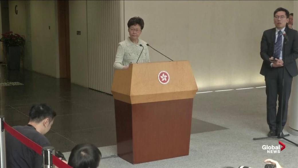 Pro-democracy lawmakers cause chaos as Hong Kong leader delivers annual address