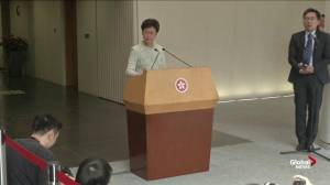 Hong Kong's Carrie Lam says U.S. senator's remark about 'police state' is 'irresponsible'