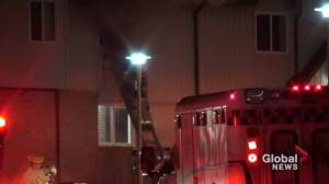 Tenant rescued from Peterborough townhouse fire (01:08)