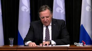 Quebec premier disappointed by federal government's refusal to discuss health transfer payments (04:11)