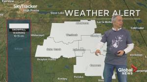 Stalled weather system expected to dump 10-15 cm on Edmonton region