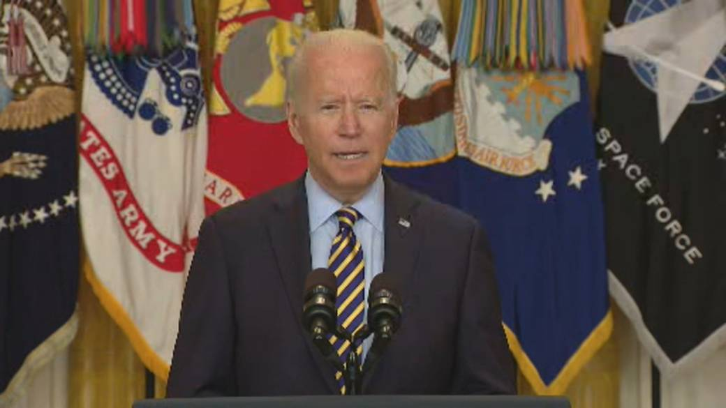 Click to play video: 'Biden says US to end Afghanistan military mission on August 31'
