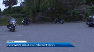 Coronavirus:  Motorcyclists spread joy at retirement homes