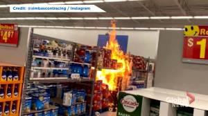 Anti-mask motive suspected in 3 Kitchener-Waterloo Walmart fires (01:49)