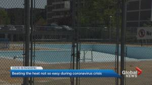 Public pools, splash pads remain closed in Toronto as heat wave hits (02:17)