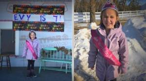 Community comes together to help celebrate girl's birthday during a pandemic