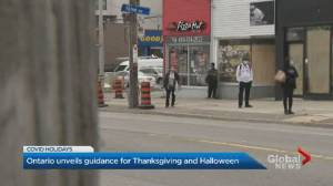 COVID-19: Ontario reveals Thanksgiving, Halloween guidelines (01:40)