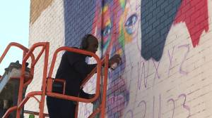 Viola Desmond tribute among murals being added to Mulgrave Park in Halifax (00:37)