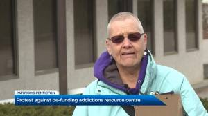 Supporters rally against de-funding Penticton's addictions resource centre (02:20)