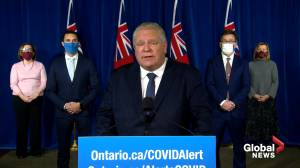 Coronavirus: Ontario Premier Doug Ford announces Hydro relief rates, expanded support for parents (02:05)