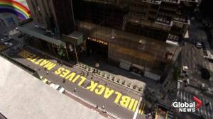 Timelapse video shows Black Lives Matter mural painted on New York's Fifth Avenue