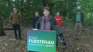 BC Greens leader Sonia Furstenau on final campaign drive before this week's election (07:05)
