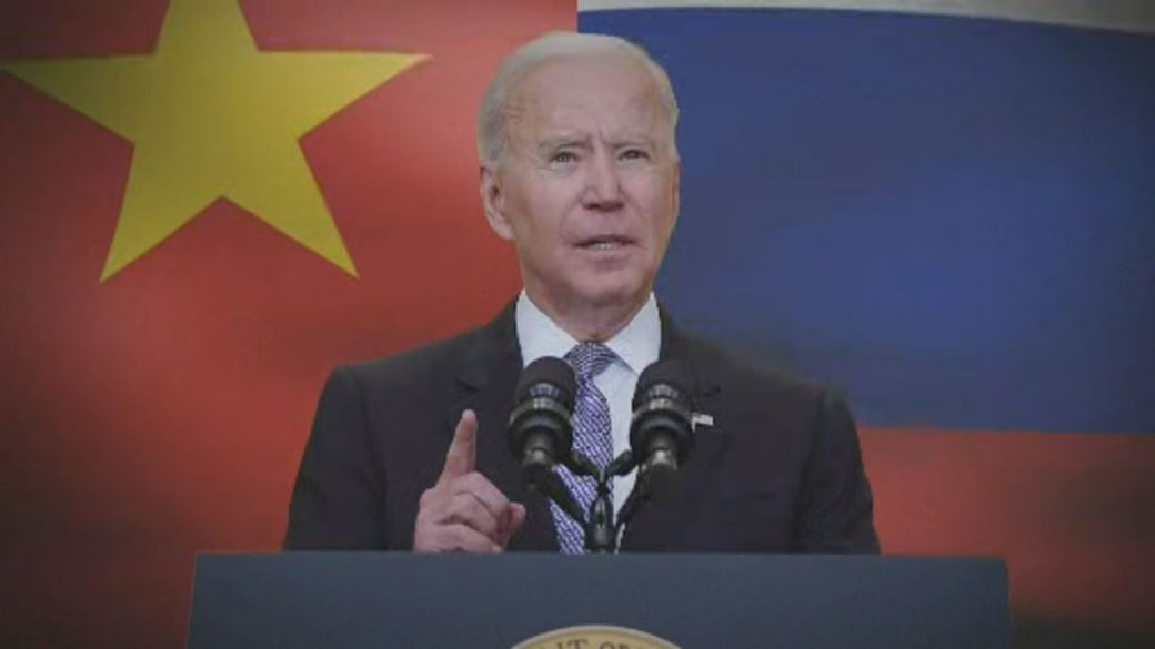Click to play video: 'Biden pushes U.S. allies to ramp up political pressure on China, Russia'