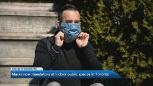 How will the City of Toronto enforce mandatory masks?