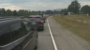 B.C. highway closures cause traffic nightmares for Princeton (01:55)