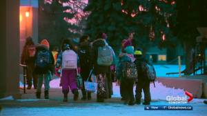 K-12 students return to in-person learning Monday across Edmonton (02:16)