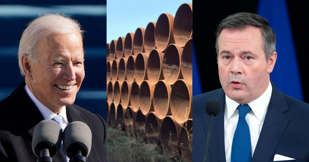 Click to play video 'Kenney's call for trade sanctions over Keystone a political distraction: political studies prof'