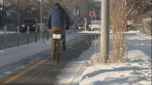 New Calgary cycle track extension connects with the Bow River Pathway
