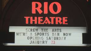 "East Van's Rio Theatre set to reopen as a ""sports bar"" (02:01)"