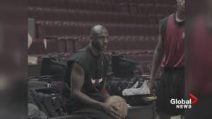 Michael Jordan and the Chicago Bulls visit Vancouver with documentary film crew