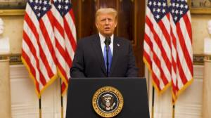 Trump touts administration's accomplishments, wishes Biden 'luck' in farewell address (01:42)