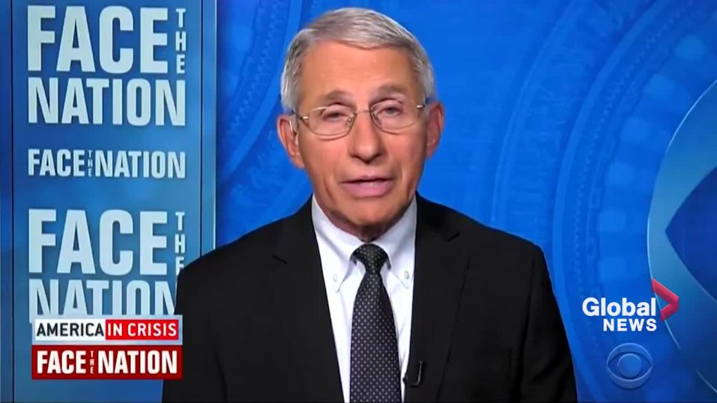 Click to play video: 'Dr. Fauci says unvaccinated responsible for latest COVID-19 outbreak'